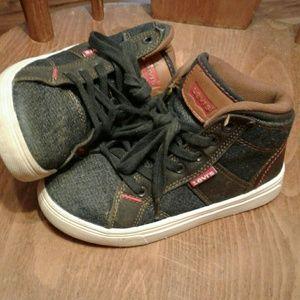 Levi's high top denim sneakers